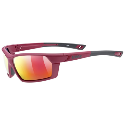 20 UVEX BRÝLE SPORTSTYLE 225 POLA, RED GREY/MIRROR RED (3530) Množ. Uni