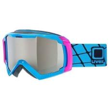 lyžařské brýle UVEX G.GL 100, cyan shiny/litemirror silver (4026) Množ. Uni