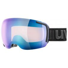 lyžařské brýle UVEX BIG 40 VFM, black mat double lens/variomatic full mirror blue (2023) Množ. Uni