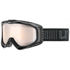 lyžařské brýle UVEX G.GL 300 VLM, black mat/litemirror silver (2023) Množ. Uni